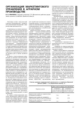 Организация маркетингового планирования на Предприятии курсовая  Организация маркетингового планирования на Предприятии курсовая